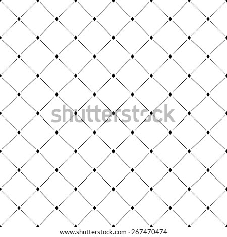 Geometric fine abstract vector pattern. Seamless modern texture for wallpapers and backgrounds. Black and white colors