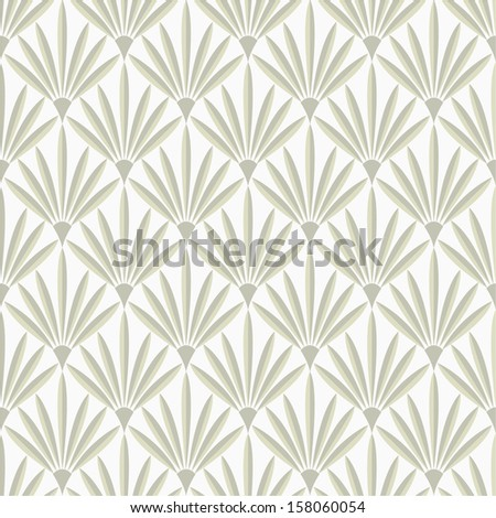 Geometric floral pattern. Seamless vector background. - stock vector
