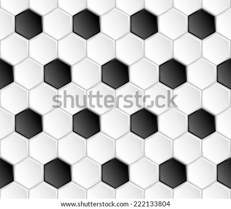 Geometric football vector seamless pattern - stock vector