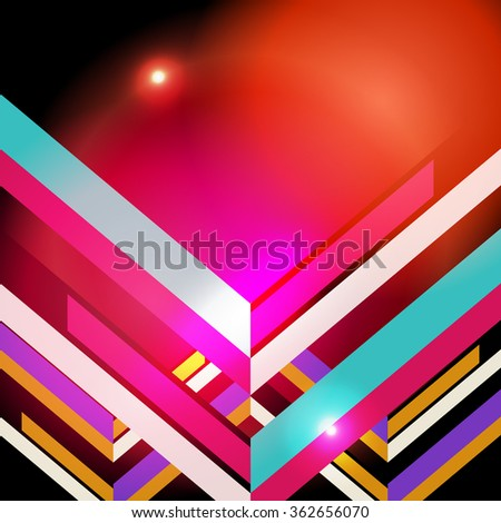 geometric glowing background, Vector Illustration