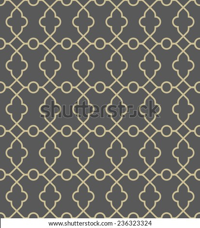 Geometric golden pattern. Seamless vector texture for backgrounds - stock vector