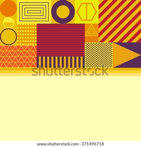 geometric graphic abstract background, vector illustration - stock vector