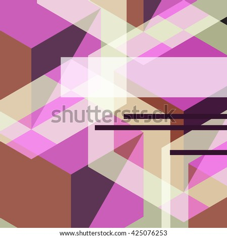geometric graphic abstract background, vector illustration
