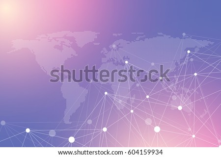 Dots grey world map vector illustration vectores en stock 257160613 geometric graphic background communication with dotted world map big data complex particle compounds gumiabroncs Image collections