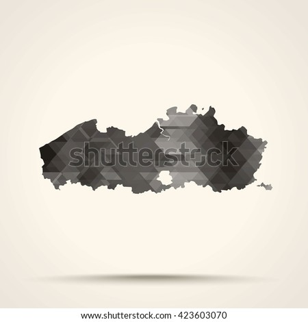 Geometric gray map of Flanders flag colors