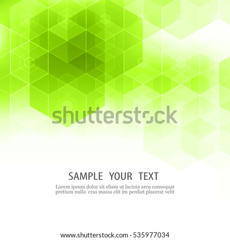 Geometric green abstract background Hexagon background design Element