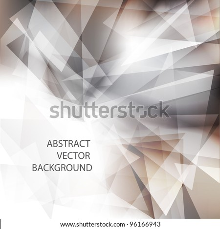 Geometric grey background.Vector eps 10 - stock vector
