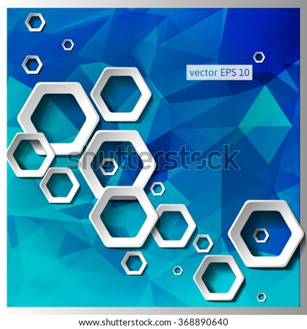 Geometric Hexagonal Shapes Background for Business / Web Design / Print / Presentation - stock vector
