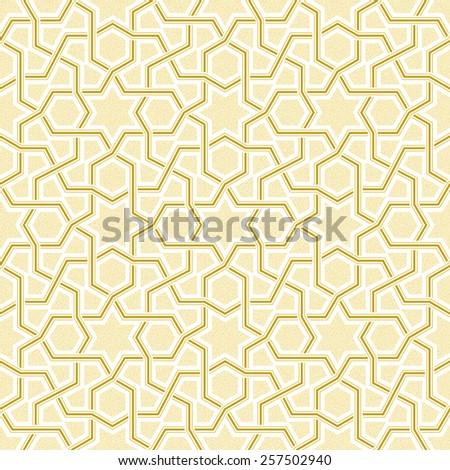 Geometric Light Golden Pattern, Vector Illustration - stock vector