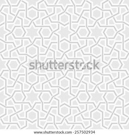 Geometric Light Grey Pattern, Vector Illustration - stock vector