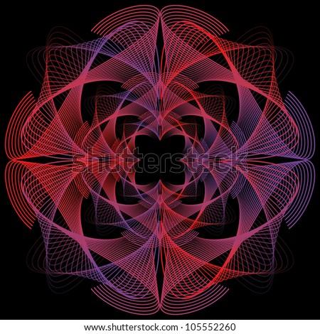 geometric lines - stock vector