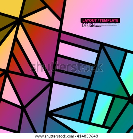 Geometric Lines and Shapes Layout/Design Cover Background - stock vector