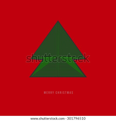 Geometric Lines - Merry Christmas Design