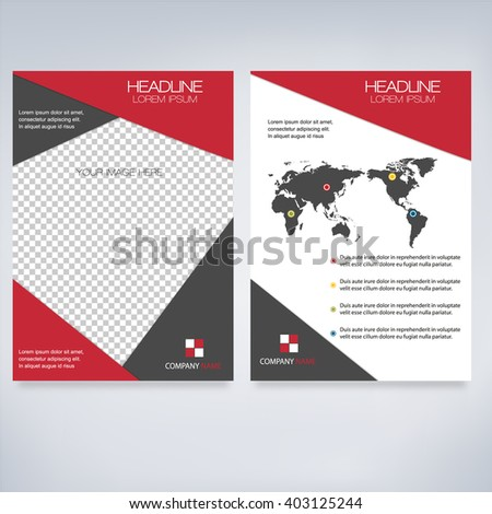Geometric Modern Business Brochure A4 Flyer Design (Proportionally:A4 Size)