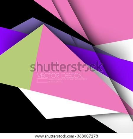 geometric modern colorful material vector design - stock vector