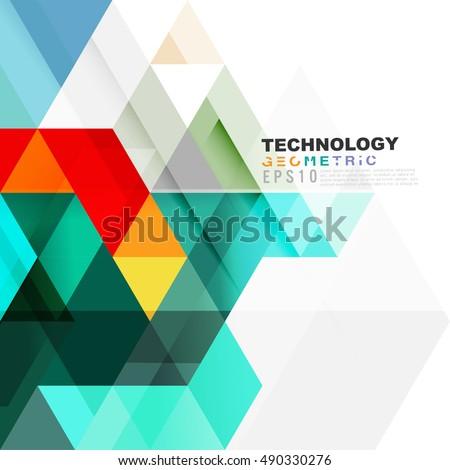 geometric modern template business technology presentation stock, Presentation Abstract Template, Presentation templates