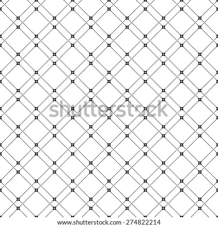 Geometric modern vector seamless pattern. Abstract texture with diagonal black dots