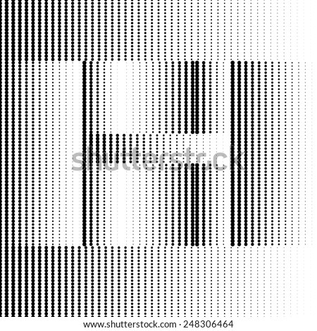 Geometric Optical Illusion Letter H - stock vector