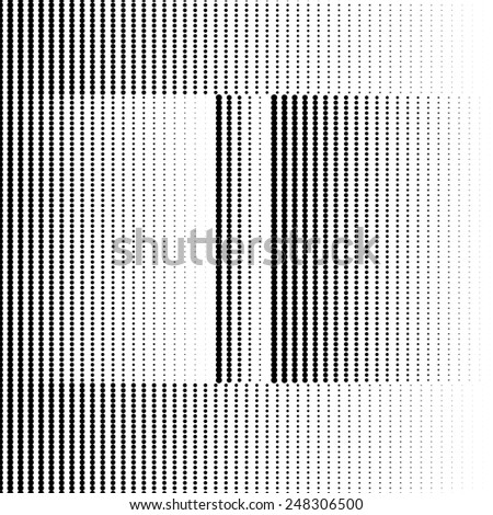 Geometric Optical Illusion Letter I - stock vector