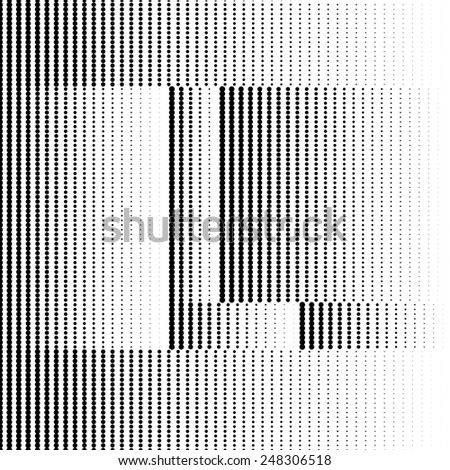 Geometric Optical Illusion Letter L - stock vector