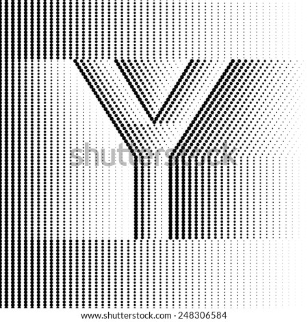 Geometric Optical Illusion Letter Y - stock vector