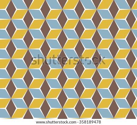 Geometric oriental pattern. Polygonal seamless texture.  - stock vector