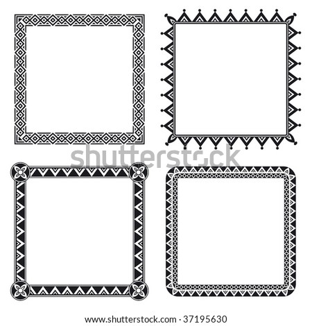 Geometric ornamental frames