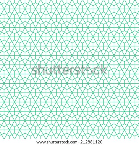Geometric ornamental pattern background. Vector graphic template.