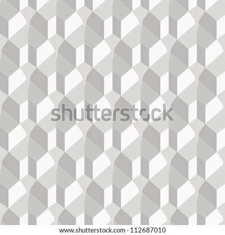 Geometric paper background, seamless vector pattern - stock vector