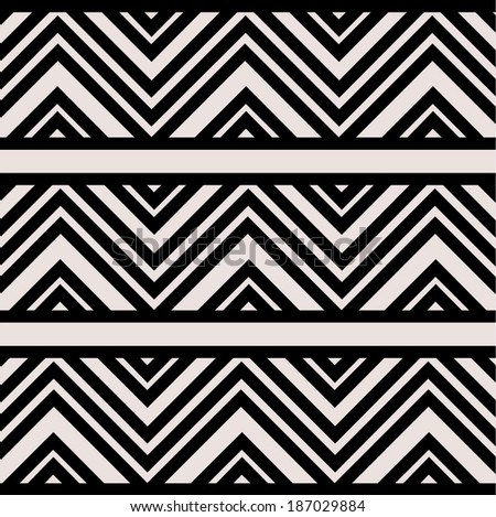 geometric pattern background black and white - stock vector