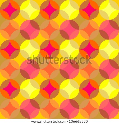 Geometric pattern of circles - stock vector