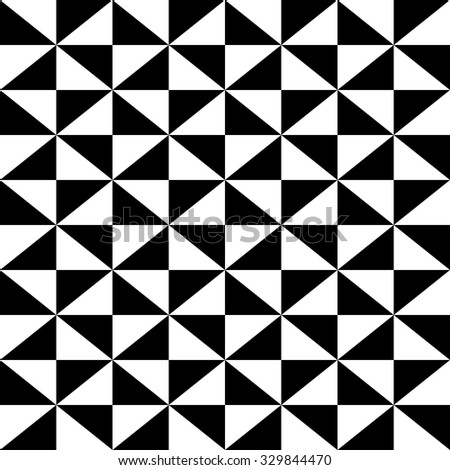 geometric pattern of repeating black triangles - stock vector