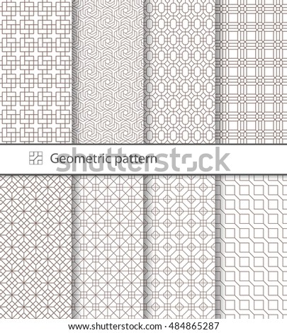 Geometric pattern seamless for your design.  Geometric pattern for laser cutting. Laser glass engraving. Desktop wallpaper, interior decoration, graphic design.