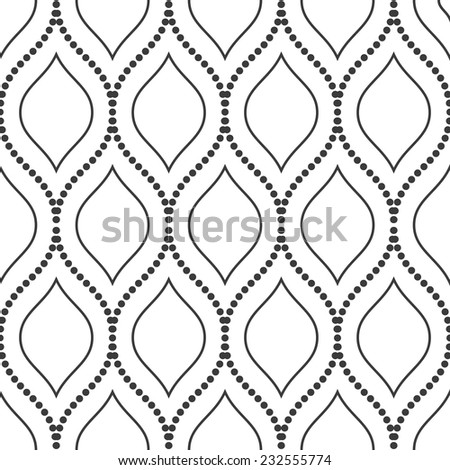 Geometric pattern. Seamless vector texture for background. Black and white colors - stock vector