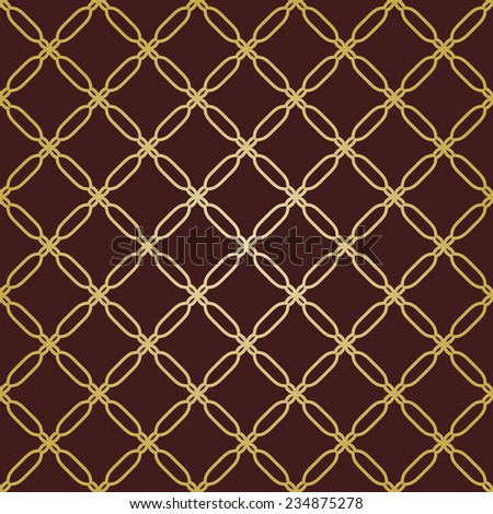 Geometric pattern. Seamless vector texture for backgrounds. Brown and golden colors - stock vector