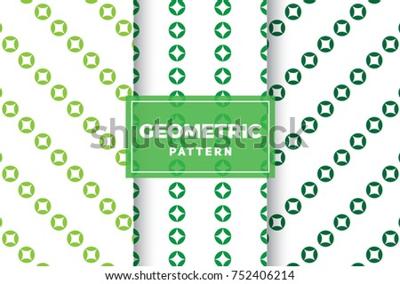 Geometric Pattern Set. Simple, Minimalist Designs. EPS 10, Vector Objects.