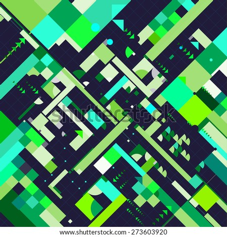 geometric pattern vector. abstract background - stock vector