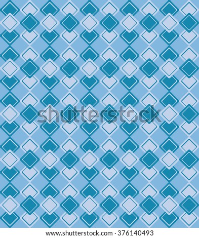 Geometric pattern with blue rhombus on blue background