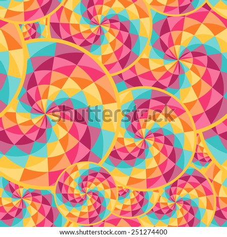 Geometric pattern with diamond shaped figures. Perfect for party design. Colorful abstract vector background - stock vector