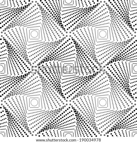 Geometric pattern with dotted rhombus - stock vector