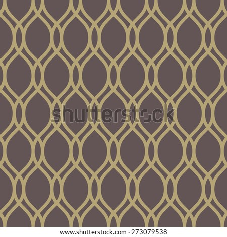 Geometric pattern with golden vertical waves. Seamless vector background. Abstract texture for wallpapers. - stock vector