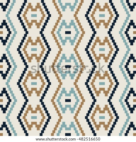 Geometric pattern with vertical zigzag in muted colors