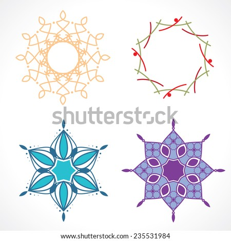 geometric patterns - stock vector