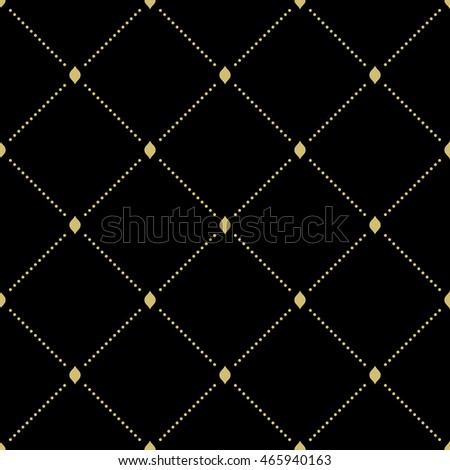 Geometric repeating vector pattern. Seamless abstract modern texture for wallpapers and backgrounds. Black and golden pattern