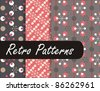 Geometric Retro Patterns - stock photo