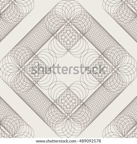 Geometric seamless pattern. An openwork pattern of thin circles. Simple regular background. Vector illustration