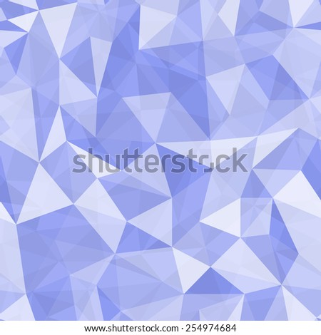 Geometric seamless pattern  from triangles. Blue vector illustration. - stock vector