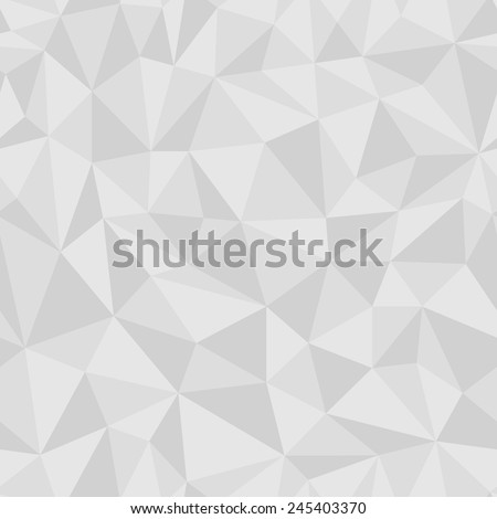 Geometric seamless pattern from triangles. Gray vector illustration. - stock vector