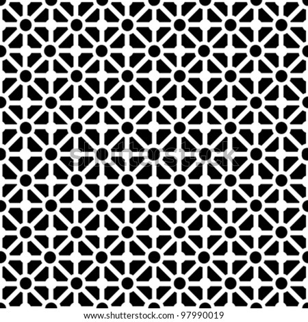 Geometric seamless pattern in black and white