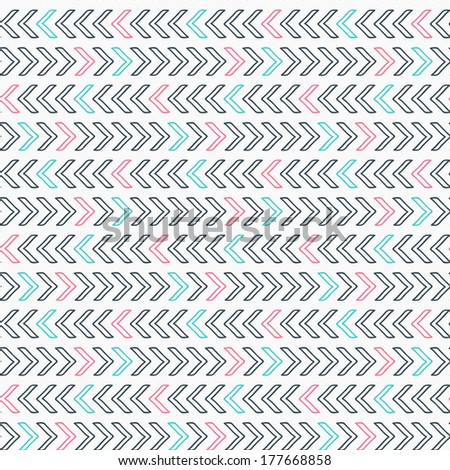 Geometric seamless pattern in hipster style - stock vector